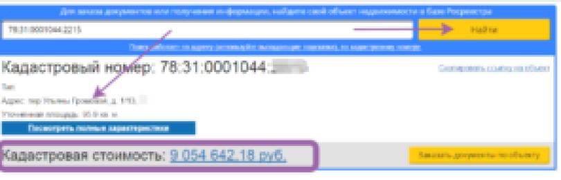 Кадастровый номер объекта недвижимости: найти по адресу объекта
