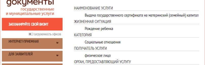Материнский капитал через МФЦ: документы, оформление и распоряжение средствами МСК