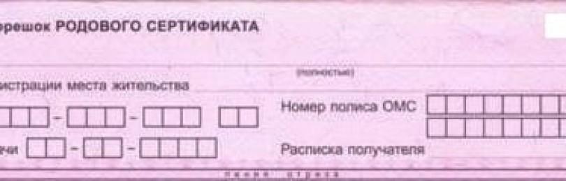Родовой сертификат: для чего он нужен, когда выдается и что с ним делать?